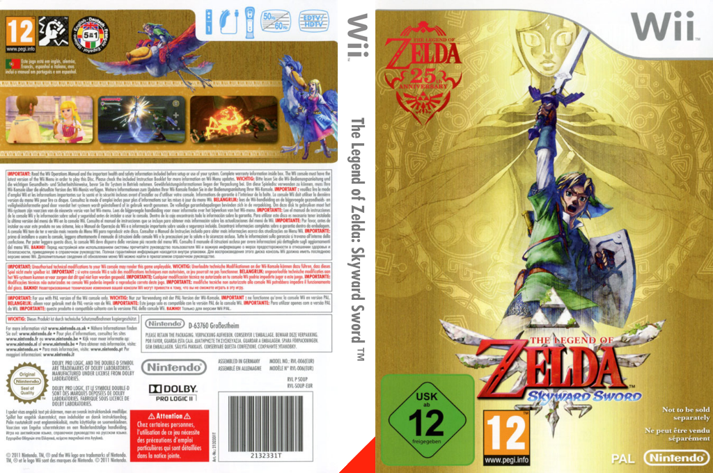 The Legend of Zelda : Skyward Sword Wii coverfullHQB (SOUP01)