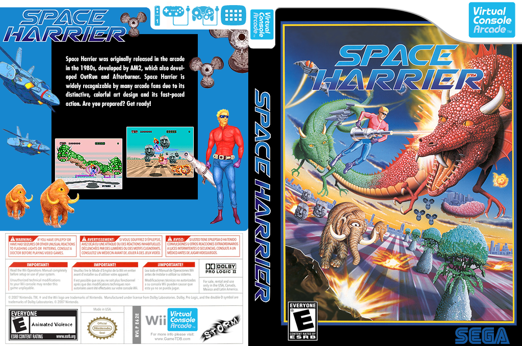 Space Harrier Wii coverfullHQB (E62E)