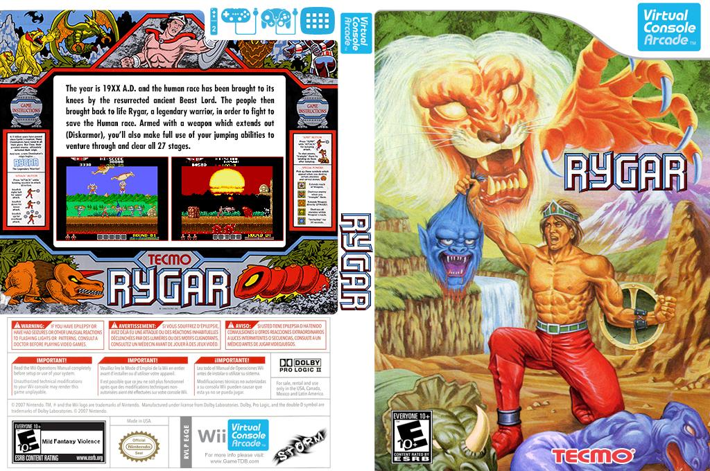 Rygar Wii coverfullHQB (E6QE)