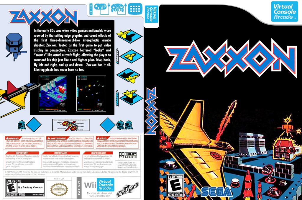 Zaxxon 3-D Wii coverfullHQB (E6VE)