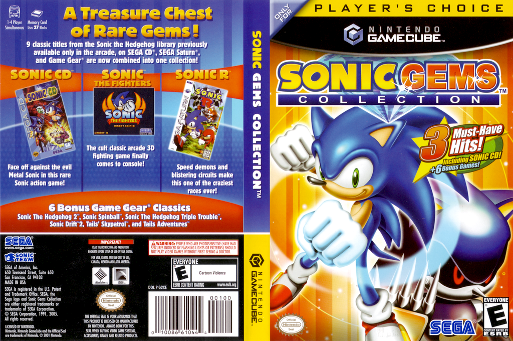 Sonic Gems Collection Wii coverfullHQB (G2XE8P)