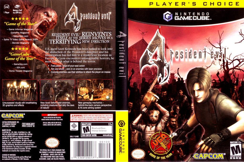 Resident Evil 4 Wii coverfullHQB (G4BE08)