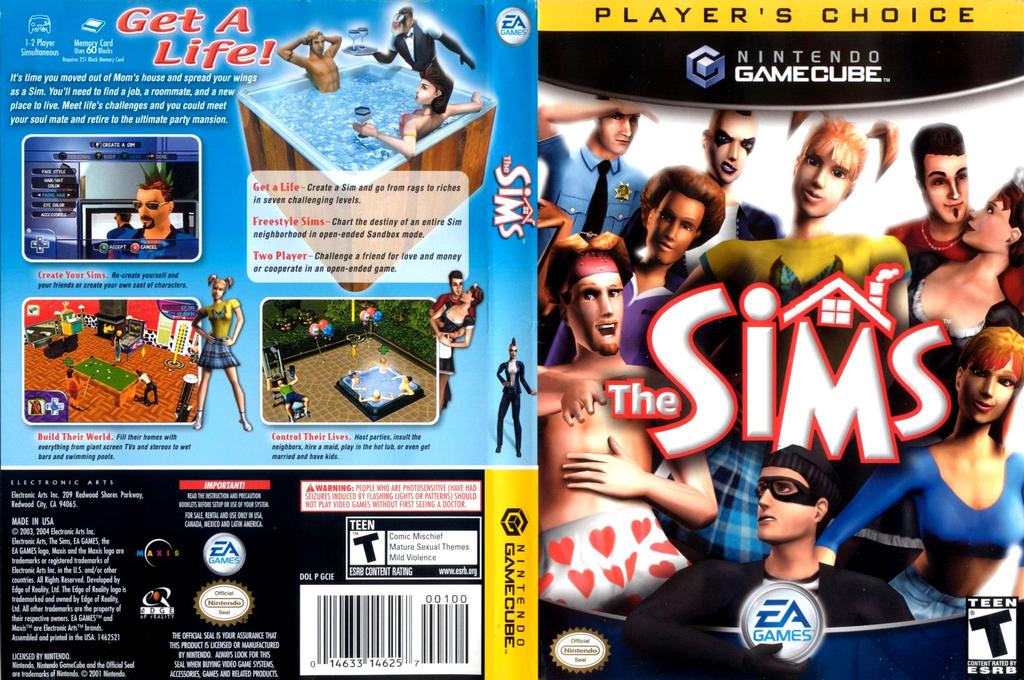 The Sims Wii coverfullHQB (GCIE69)