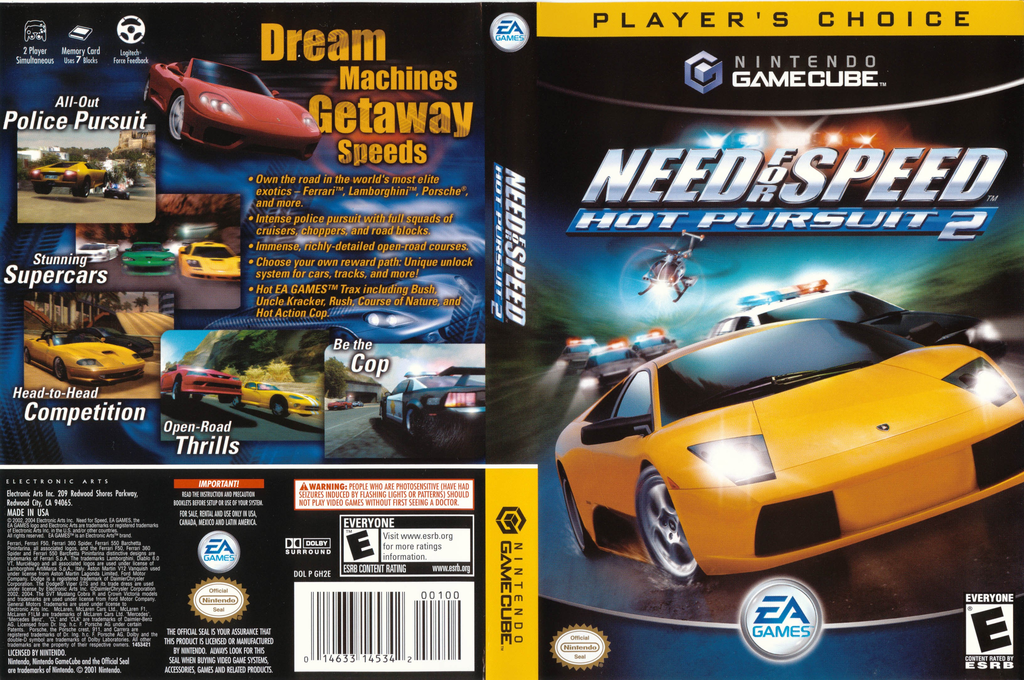 Need for Speed: Hot Pursuit 2 Wii coverfullHQB (GH2E69)