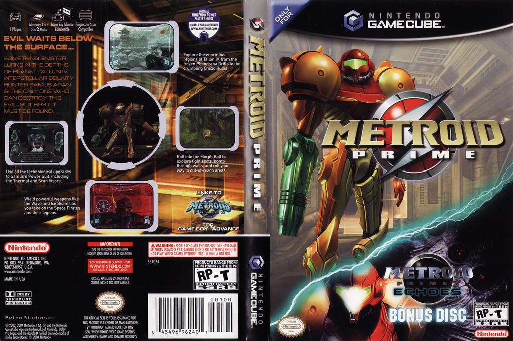 Metroid Prime Wii coverfullHQB (GM8E01)