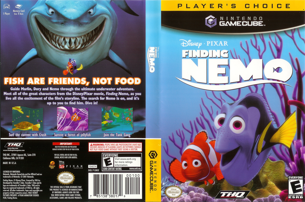 Finding Nemo Wii coverfullHQB (GNEE78)