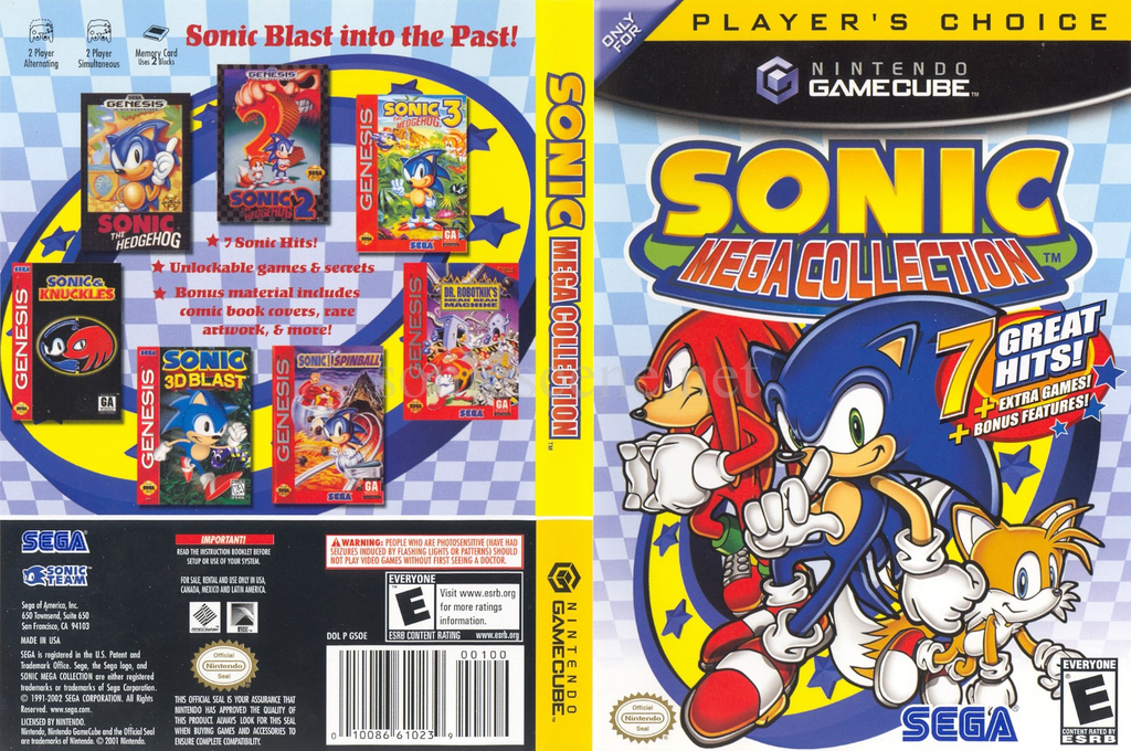 Sonic Mega Collection Wii coverfullHQB (GSOE8P)