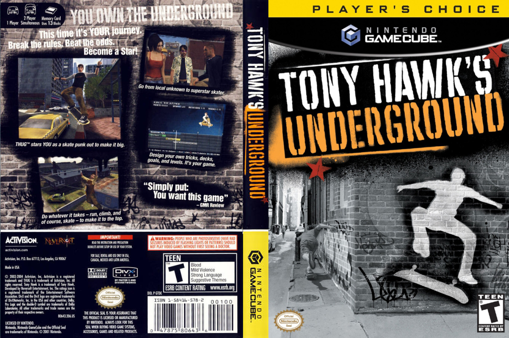 Tony Hawk's Underground Array coverfullHQB (GTDE52)