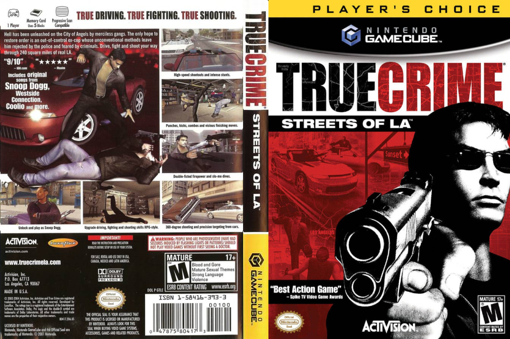 True Crime: Streets of LA Wii coverfullHQB (GTLE52)