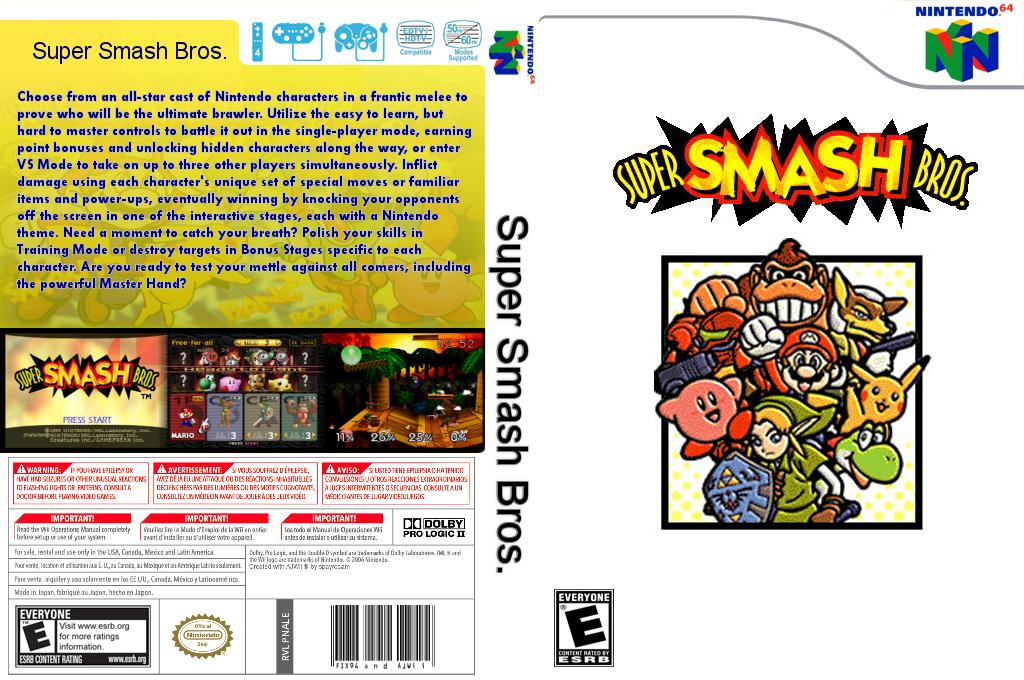 Super Smash Bros. Wii coverfullHQB (NALE)