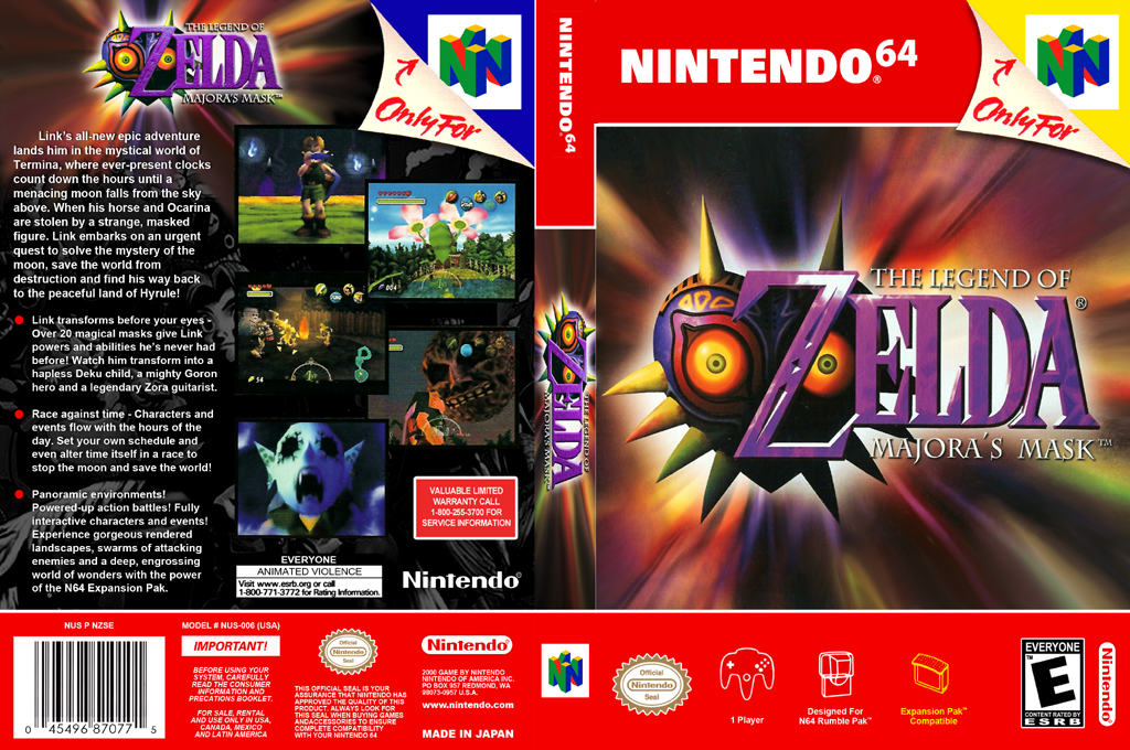 The Legend of Zelda: Majora's Mask Wii coverfullHQB (NARE)