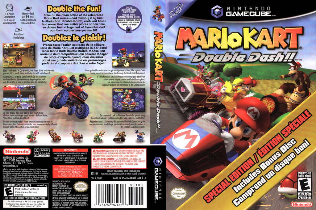 Mario Kart: Double Dash!! Bonus Disc Array coverfullHQB (PM4E01)