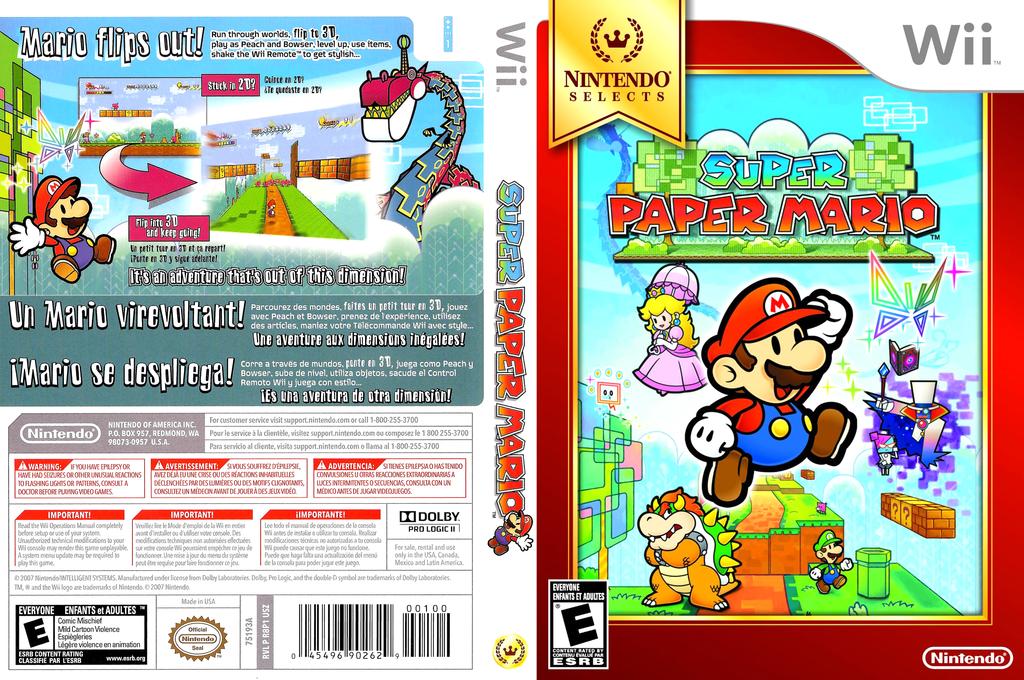 Super Paper Mario Wii coverfullHQB (R8PE01)