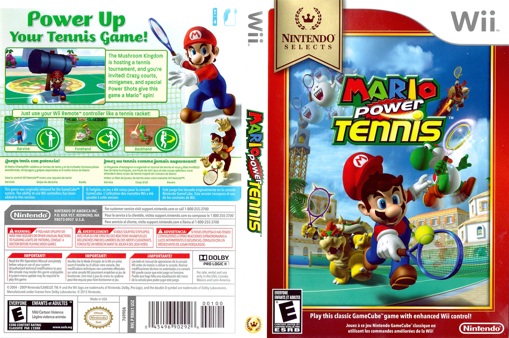 Mario Power Tennis Wii coverfullHQB (RMAE01)