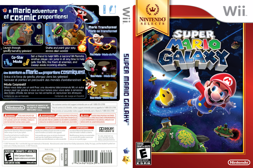 Super Mario Galaxy Wii coverfullHQB (RMGE01)