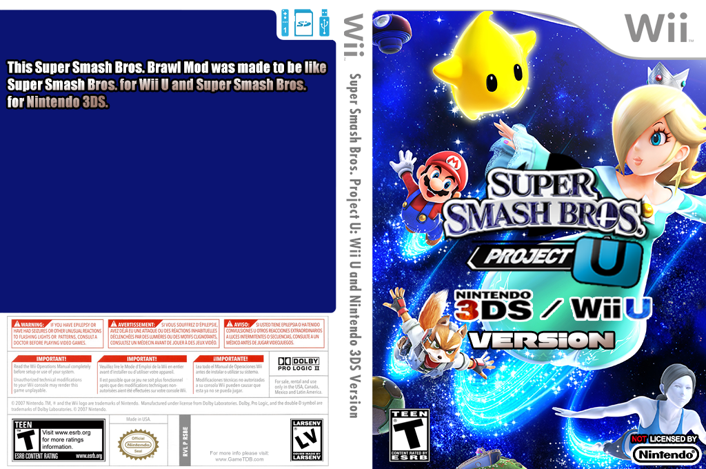 Super Smash Bros. Project U: Ultra Version Wii coverfullHQB (RSBE50)