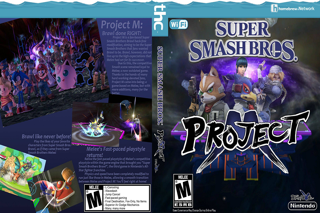 Super Smash Bros. Project M Wi-Fi Wii coverfullHQB (RSBEWM)