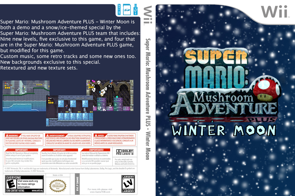 Super Mario: Mushroom Adventure PLUS - Winter Moon Wii coverfullHQB (SMME02)