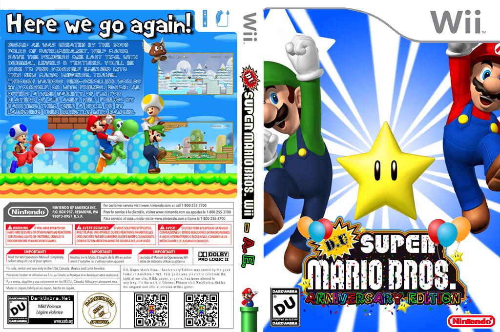 DU Super Mario Bros.:Anniversary Edition Wii coverfullHQB2 (DUAP01)