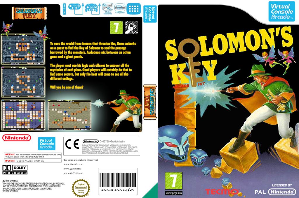 Solomon's Key Wii coverfullHQB2 (E6NP)