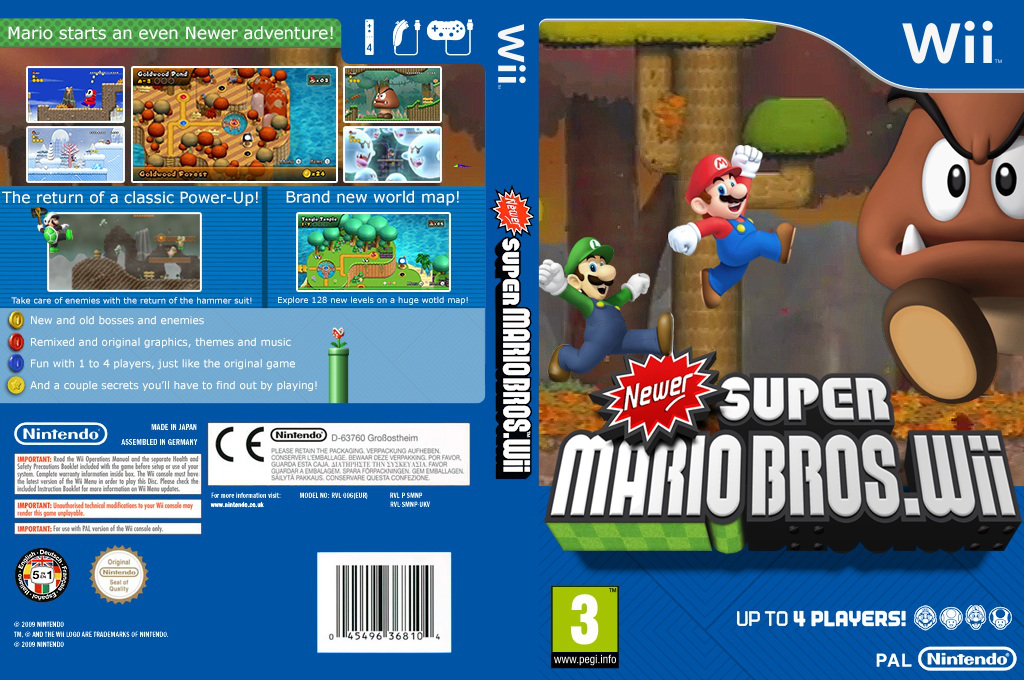 Newer Super Mario Bros. Wii Wii coverfullHQB2 (SMNP03)