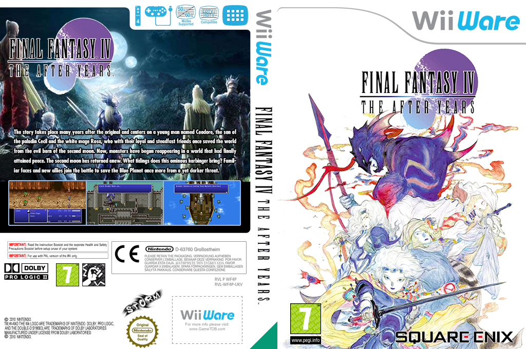 Final Fantasy IV: The After Years Wii coverfullHQB2 (WF4P)