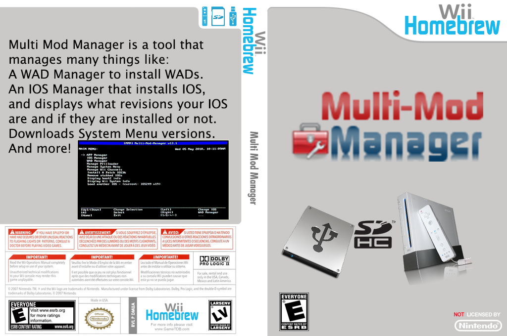 Multi Mod Manager Wii coverfullHQB2 (DMUA)