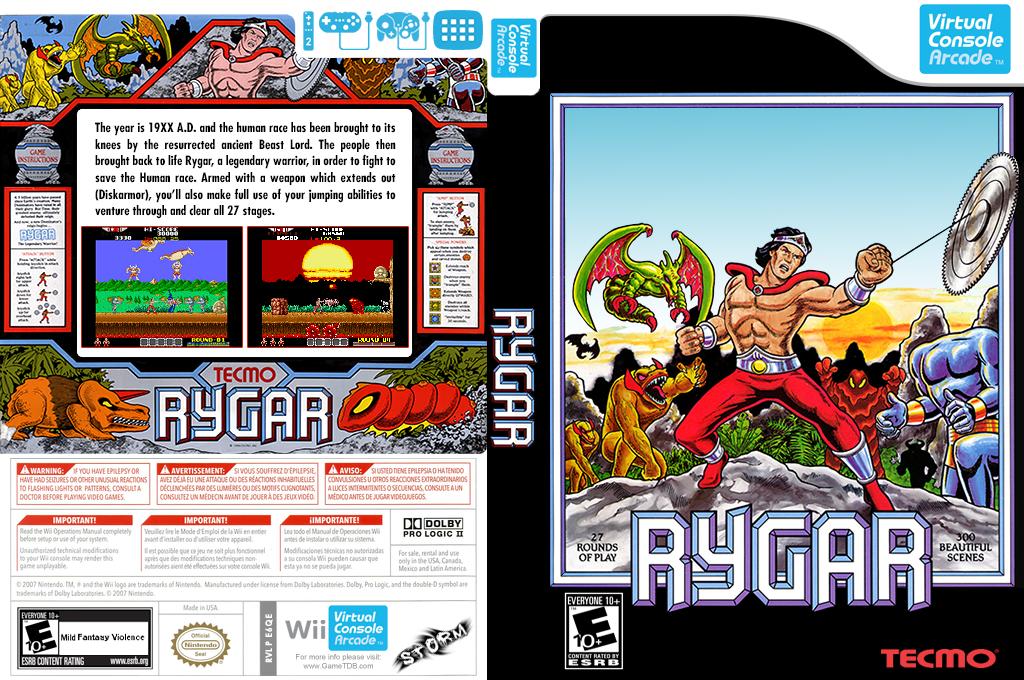 Rygar Wii coverfullHQB2 (E6QE)