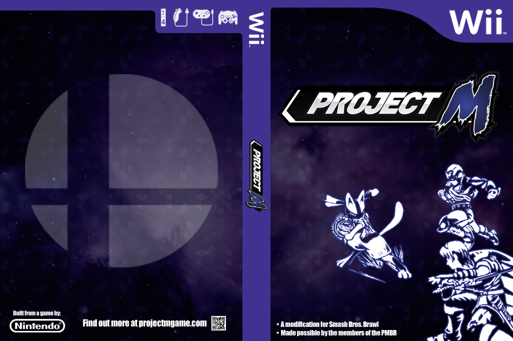 Super Smash Bros. Project M Wii coverfullHQB2 (RSBEPM)