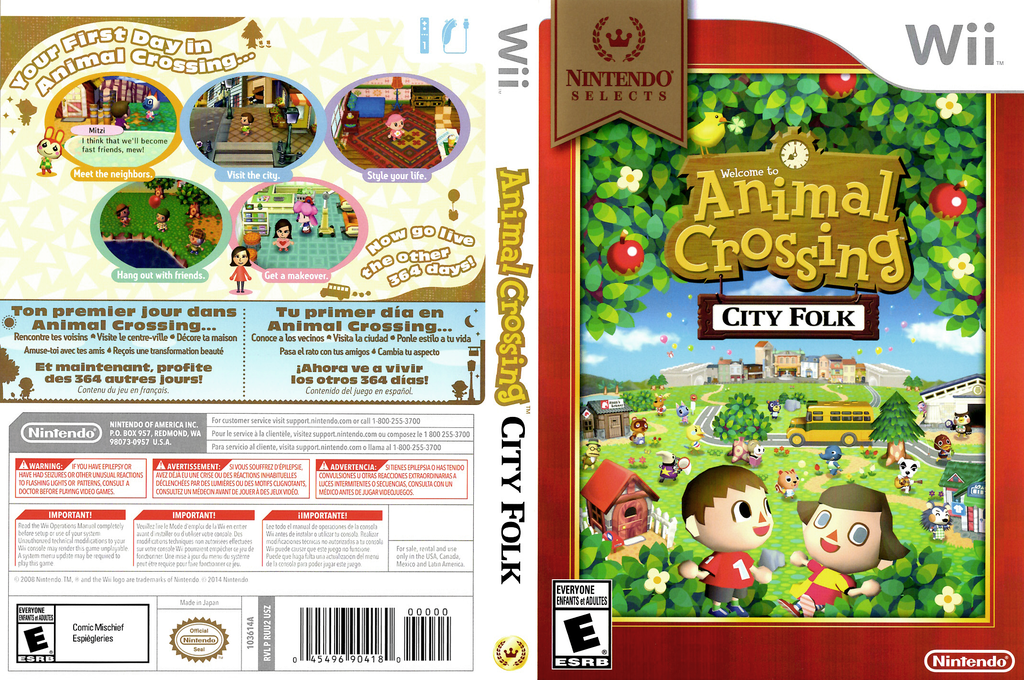 Animal Crossing: City Folk Wii coverfullHQB2 (RUUE01)