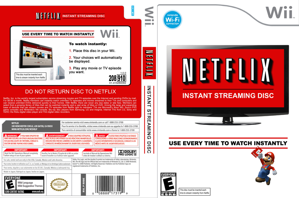 Netflix Instant Streaming Disc Wii coverfullHQB2 (SNTEXN)