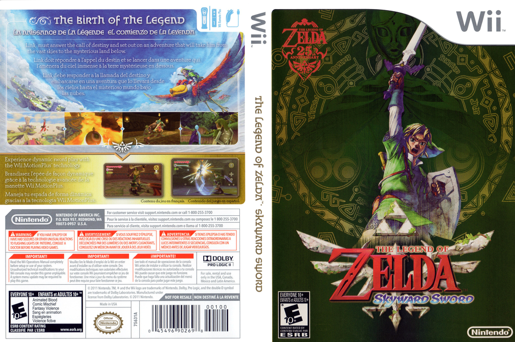 The Legend of Zelda: Skyward Sword Wii coverfullHQB2 (SOUE01)