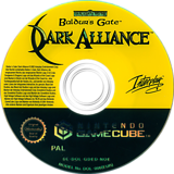 Baldur's Gate Dark Alliance GameCube disc (GDED71)