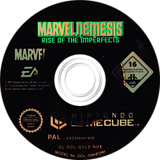 Marvel Nemesis: Rise of the Imperfects GameCube disc (GVLD69)