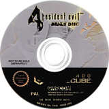 Resident Evil 4: Bonus Disc GameCube disc (D4BU01)