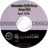 Interactive Multi-Game Demo Disc - April 2006 GameCube disc (D77P01)
