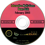 Interactive Multi-Game Demo Disc - February 2005 GameCube disc (D83P01)
