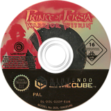 Prince of Persia: Warrior Within GameCube disc (G2OP41)