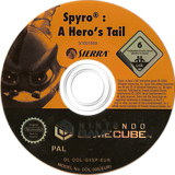 Spyro: A Hero's Tail GameCube disc (G5SP7D)