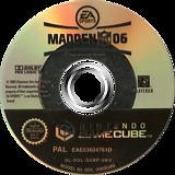 Madden NFL 06 GameCube disc (G6MP69)