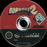 Burnout 2: Point of Impact GameCube disc (GB4P51)