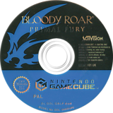 Bloody Roar: Primal Fury GameCube disc (GBLP52)