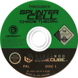 Tom Clancy's Splinter Cell: Chaos Theory GameCube disc (GCJP41)