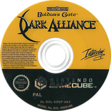 Baldur's Gate Dark Alliance GameCube disc (GDEP71)