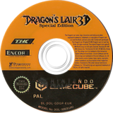 Dragon's Lair 3D Special Edition GameCube disc (GDGP78)