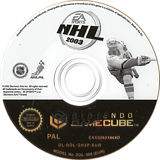 NHL 2003 GameCube disc (GH3P69)