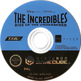 The Incredibles: Rise of the Underminer GameCube disc (GIQX78)