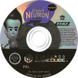 Jimmy Neutron Jet Fusion GameCube disc (GJFP78)