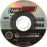 NBA 2K3 GameCube disc (GK3P8P)