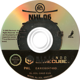 NHL 06 GameCube disc (GN6P69)